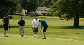 Players enjoyed a wonderful day of golf, lunch, and networking at the Chamber's 10th Annual Golf for Small Business Tournament. Photo by JBug Images