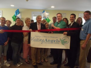 Visiting Angels ribbon cutting